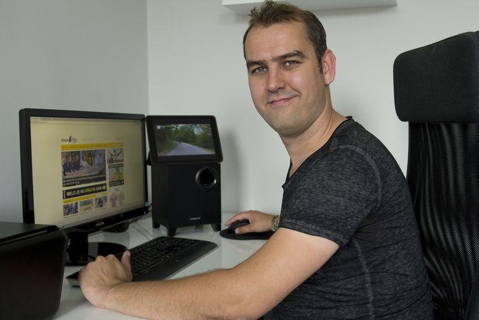 Martin van den Bosch heeft tegenwoordig een fulltime job aan zijn populaire website wielerflits.nl