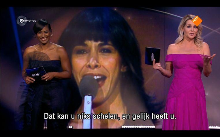 Grapje van Chantal Janzen over een liedje uit haar geboortejaar 1979 Beeld Maaike Bos