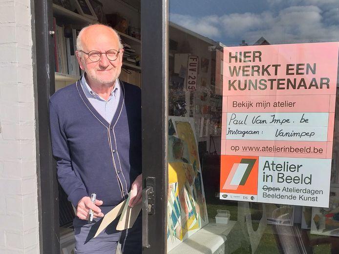 Kunstenaar Paul Van Impe uit Burst doorstreepte de 'open' voor de 'atelierdagen voor beeldende kunst' maar heeft aan alternatief op Instagram.
