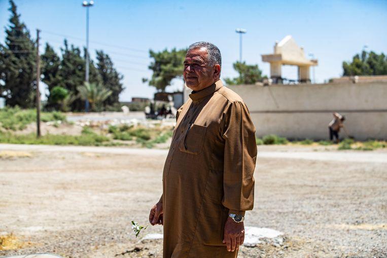Hassan al Jado'a in Raqqa.  Beeld Delil Souleiman