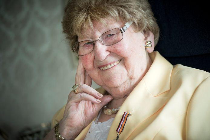Mia Lelivelt (1925-2020), verzetsvrouw uit Lichtenvoorde.