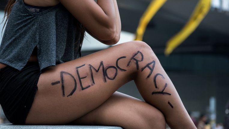 De protesten in Hong Kong gaan door. Beeld afp