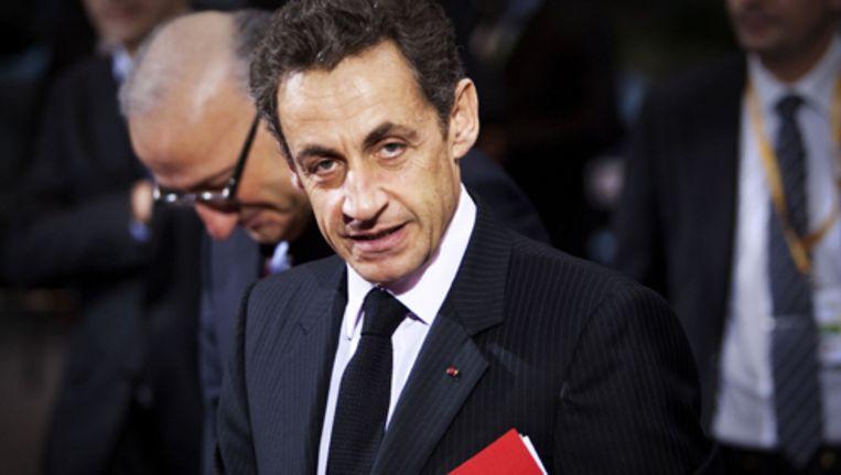 Sarkozy wil de stoffelijke resten van schrijver Albert Camus overbrengen naar Panthéon. Foto ANP Beeld