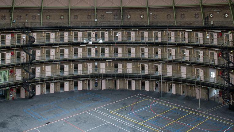 De gevangeniscellen zijn werkplekken, start-ups komen op de bovenste ringen Beeld Mats van Soolingen