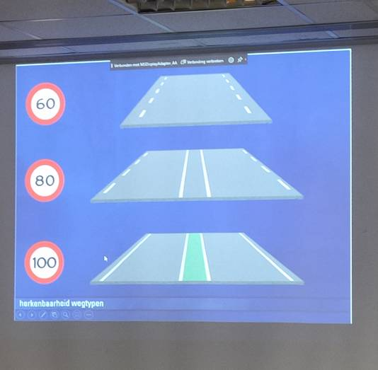 Herkenbaarheid van wegtypen tijdens theorieles