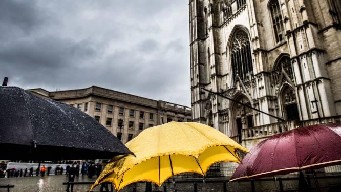 Regenachtige en bewolkte dinsdag, donderslag niet uitgesloten