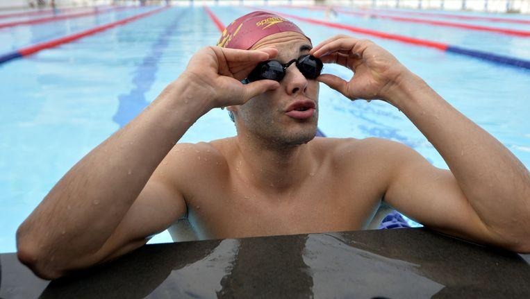 François Heersbrandt was een van de vier zwemmers die in Doha een nieuw Belgisch record op de tabellen plaatste. Beeld BELGA