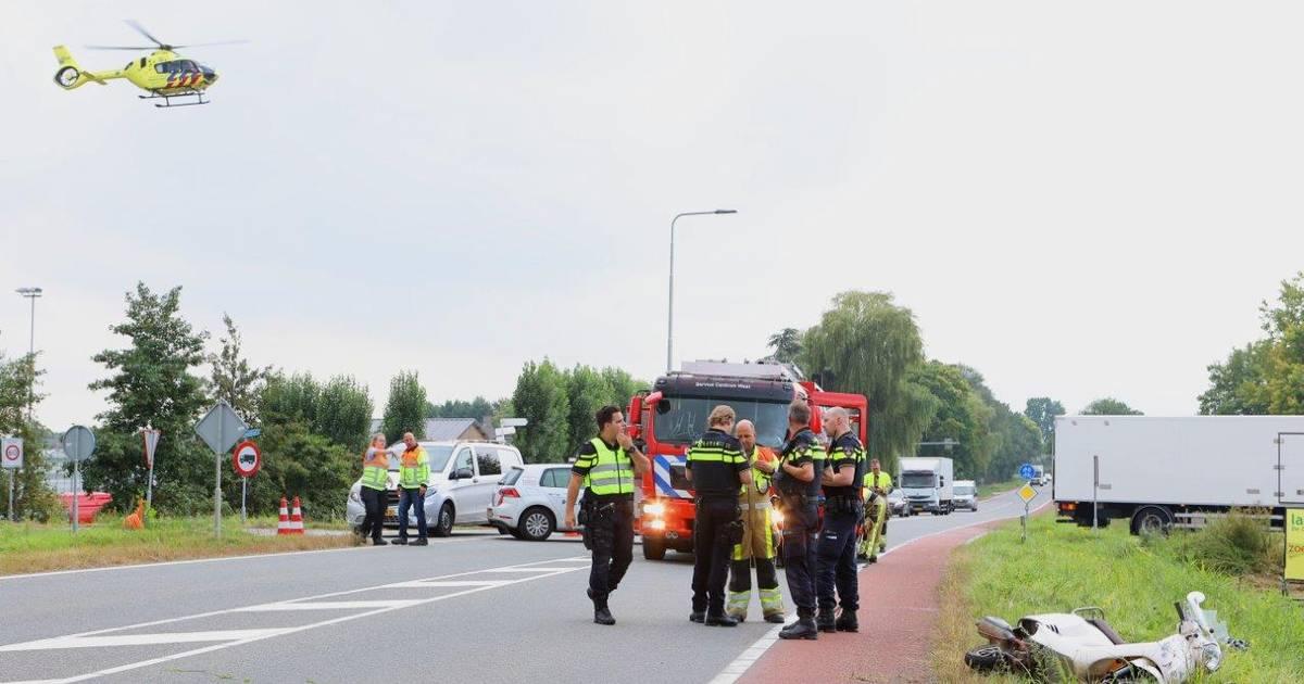 Man zwaargewond na ongeval op Provincialeweg in Kerkdriel.