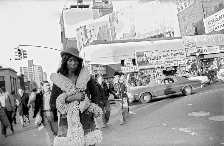 New York, Times Square in de jaren zeventig Beeld Leland Bobbé