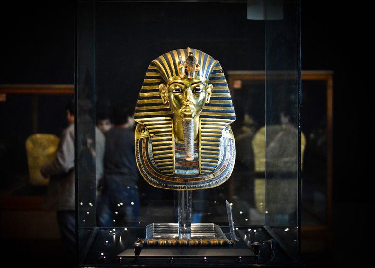 Het dodenmasker van de Egyptische farao Toetanchamon. Beeld Hollandse Hoogte / AFP