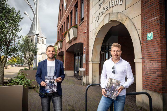 Joost Lansink (rechts) en Brian Brokelman geven komend voorjaar voor het eerst een ondernemersmagazine uit voor Dinkelland.