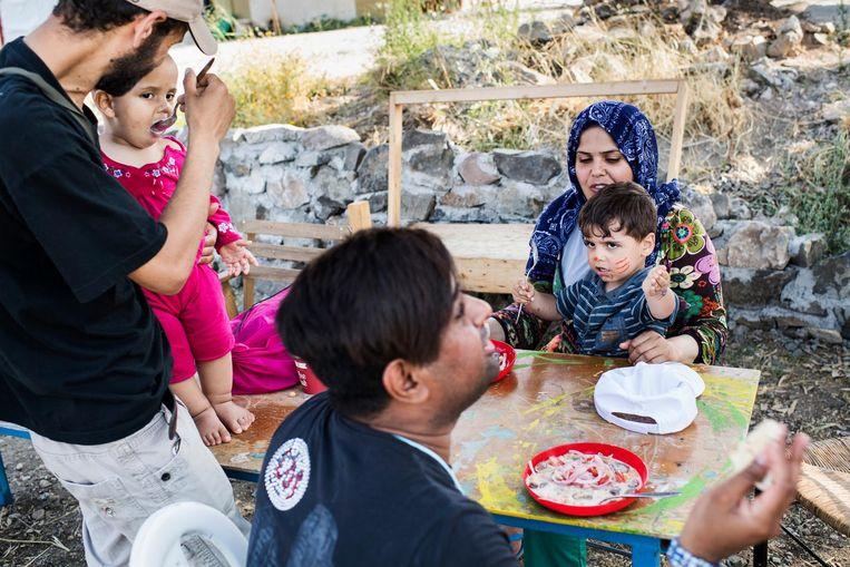 Een Syrische familie in het centrum. Beeld Tycho Gregers/Jyllands Posten