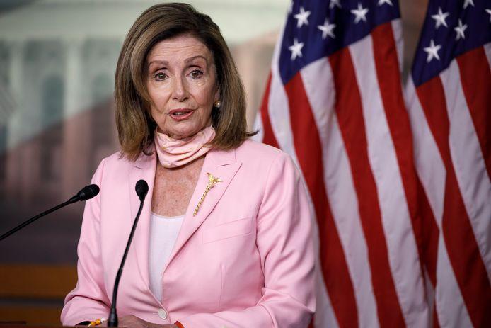 Nancy Pelosi, présidente de la Chambre des représentants des États-Unis.
