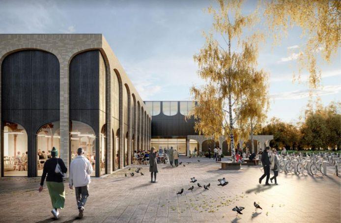 Een impressie van het nieuwe sportcentrum in Ermelo, dat bestaat uit vier sportzalen, een wedstrijdbad, instructiebad, peuterbad, whirlpool en sauna/stoombad.