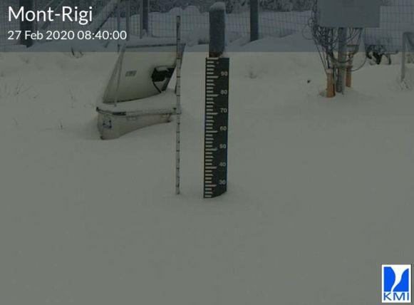 Een aardige sneeuwhoeveelheid vandaag aan Mont-Rigi.