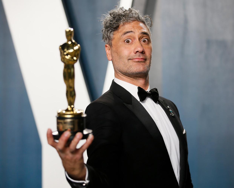 Regisseur en scenarist Taika Waititi won met Jojo Rabbit de Oscar voor Beste Bewerkte Scenario.  Beeld REUTERS