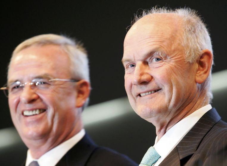 Martin Winterkorn (links) en Ferdinand Piëch. Beeld REUTERS