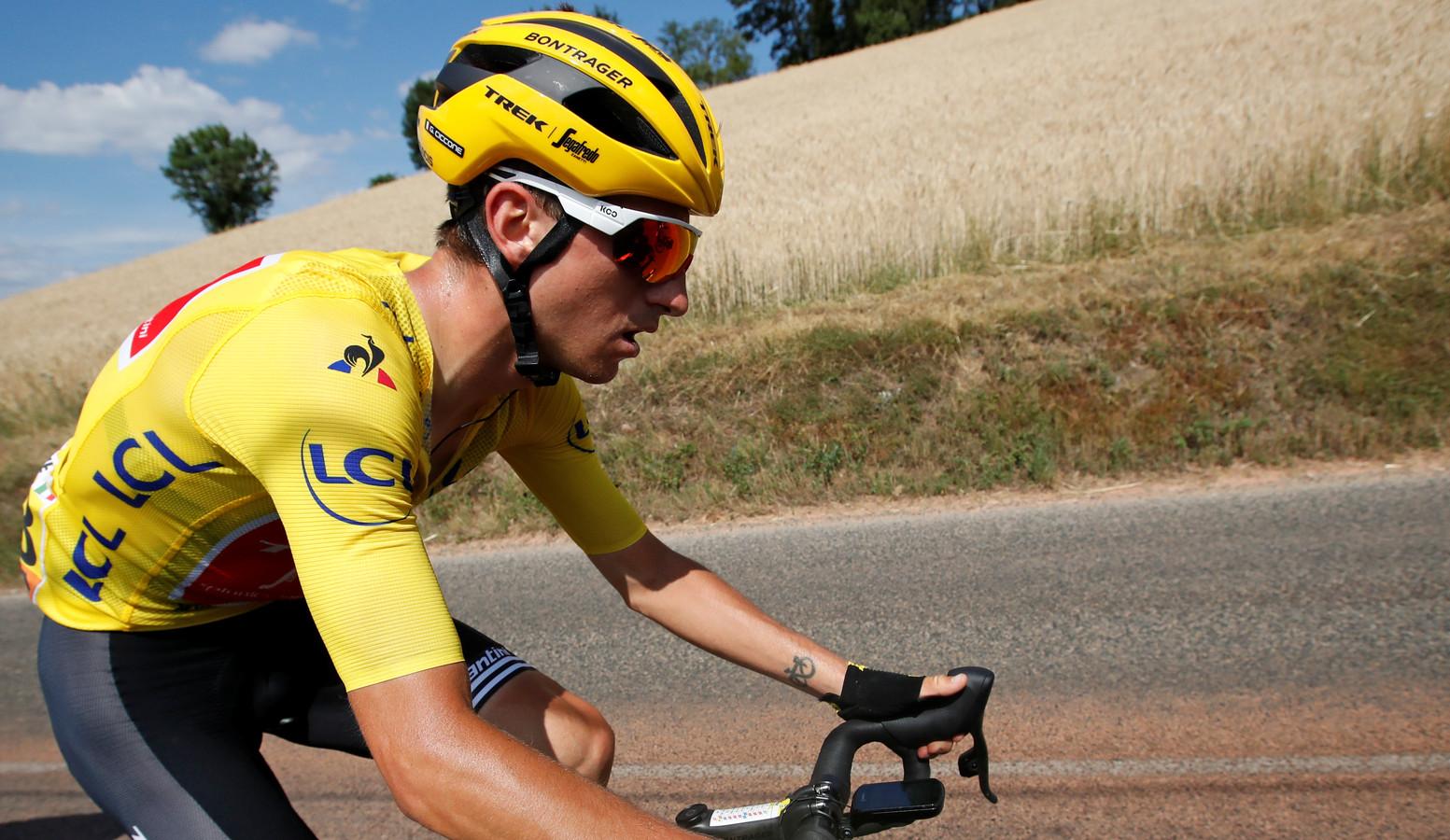 Giulio Ciccone reed twee dagen in het geel.