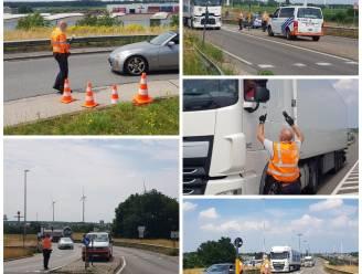 Politie controleert aan Transportzone Meer: 20 bestuurders krijgen pv