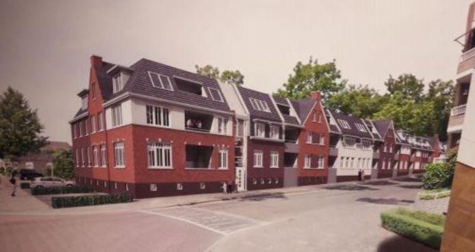 Impressie van de nieuwbouw aan de kant van de Baerdijk, zoals beoogd door de Oisterwijkse ondernemer Pedro van Zon in samenwerking met Roozen van Hoppe
