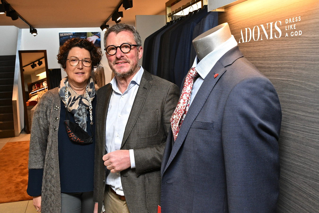 Voor de uitbaters van Adonis in de Noordstraat is winkelen op afspraak geen probleem.