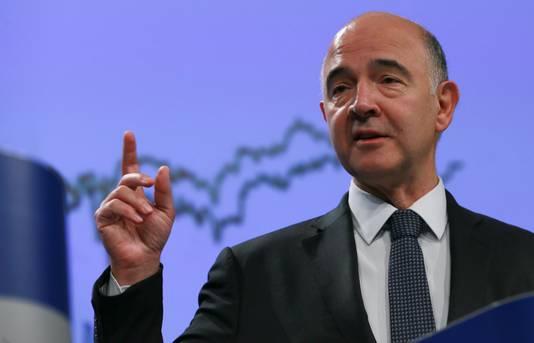 Eurocommissaris van economische en monetaire zaken Pierre Moscovici.