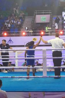 Nijmeegse Jemyma verslaat wereldkampioene en zit bij beste vier op WK boksen