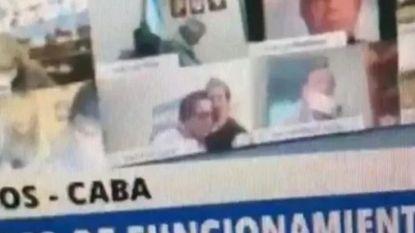 Argentijnse politicus geschorst na kussen borsten tijdens zitting parlement
