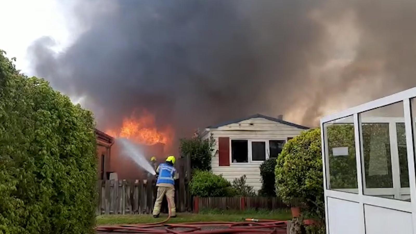 De hitte die bij de brand vrijkwam, was gigantisch.