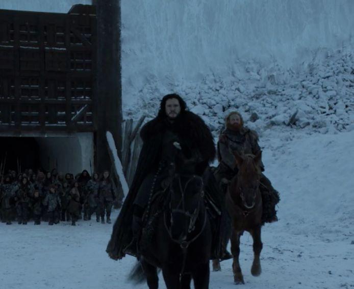 Jon trekt naar de Noorden van de Wall.