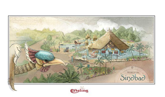 Dessin de la nouvelle attraction Sirocco, conçue par Sander de Bruijn.