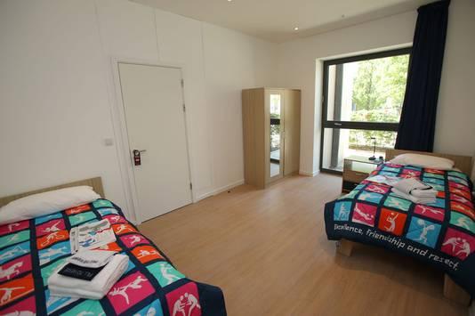 Une chambre dans le village olympique