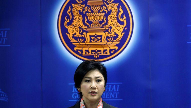 De Thaise ex-premier Yingluck Shinawatra. Beeld getty