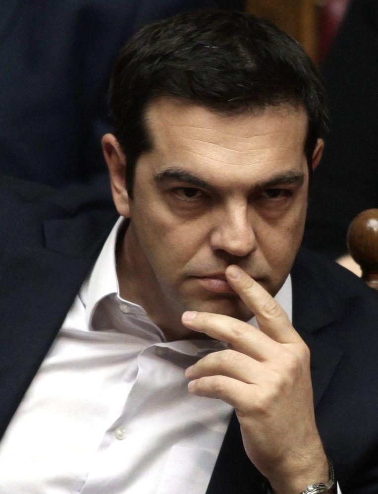 Kan de Griekse premier Tsipras zijn voornemen voor een referendum doorduwen? Beeld EPA