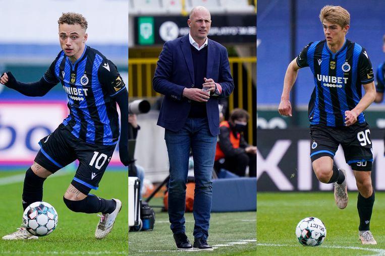 Lopen Lang, Clement en De Ketelaere volgend seizoen nog rond in Brugge? Beeld Photo News