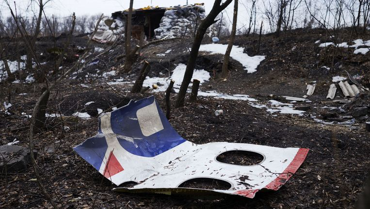De plek van de ramp met de MH17. Beeld anp