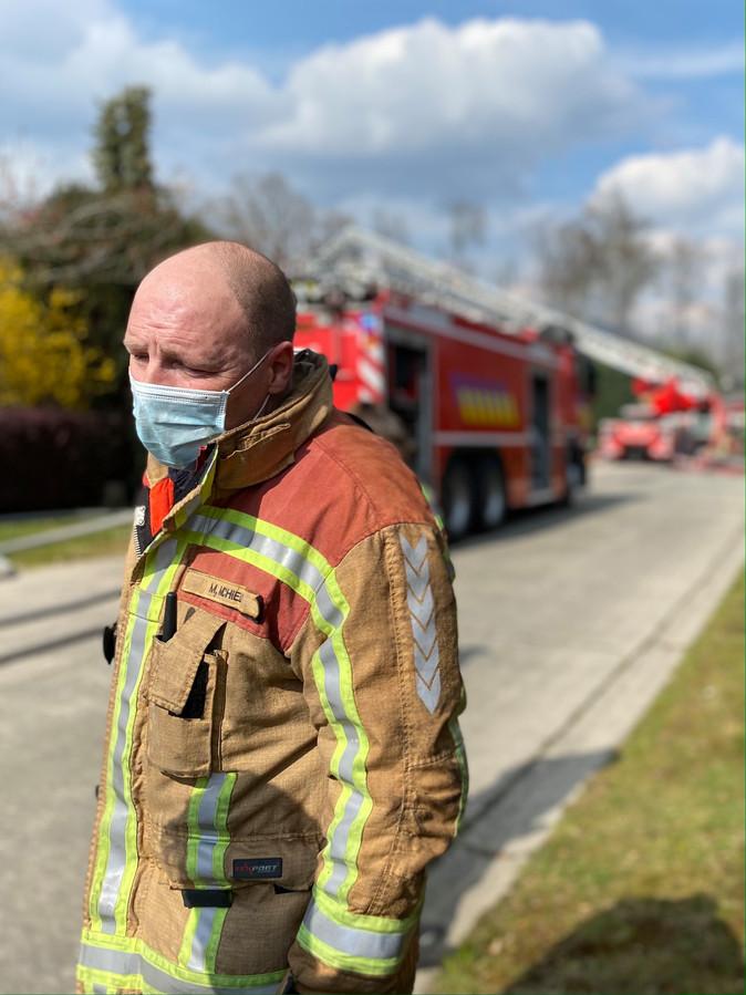 MUIZEN - Brandweerkapitein Michel Michiels van de brandweerzone Rivierenland, post Nekker (Mechelen).