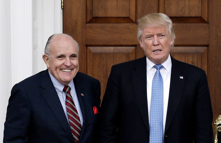 Rudy Giuliani en Donald Trump.