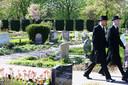 Islamitische graven op de begraafplaats in Gorinchem.