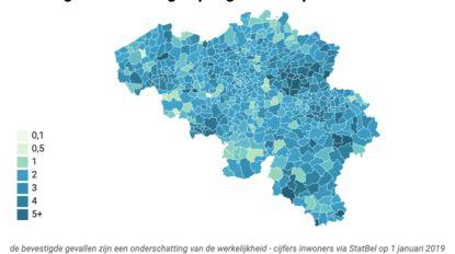 Kapelle-op-den-Bos in top tien meest aantal besmettingen COVID-19