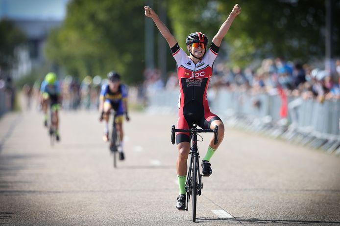 Tijl Swennen, toen nog bij Sport en Steun, was vorig jaar één van de winnaars in de Kristalparkkoers in Lommel.