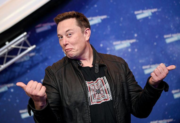 Als Elon Musk, de topman van Tesla, ergens iets over zegt, heeft iedereen het erover. Beeld Getty Images