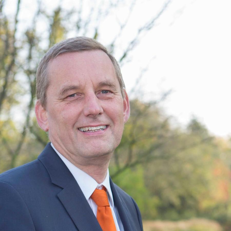 Anton Stapelkamp, burgemeester van grensgemeente Aalten.