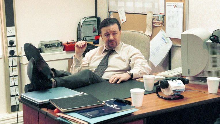 Ricky Gervais in de serie The Office. Beeld null