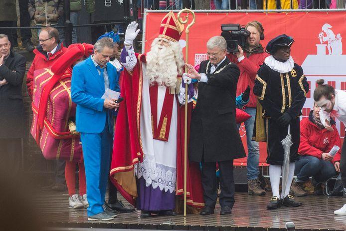Jan van Zanen bij de intocht van Sinterklaas in Utrecht in 2016, toen hij daar nog burgemeester was.