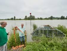 IJsselbiënnale-kunstwerk in Zutphen gered van onderdompeling in rivierwater: 'Dit was een pittig klusje'