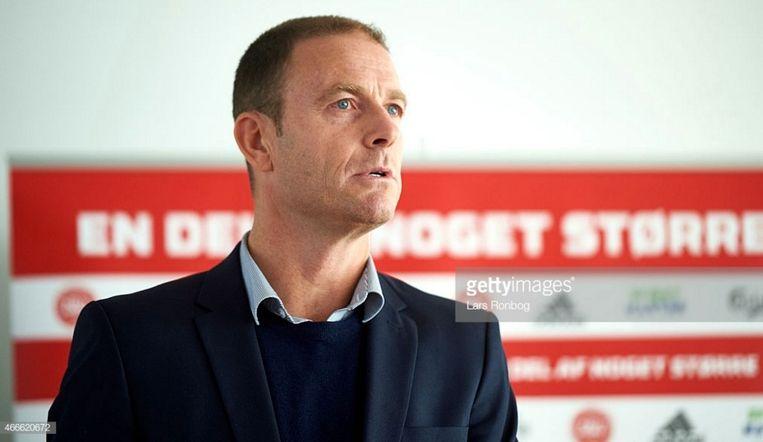Jesse Thorup is nu nog coach bij het Deense Midtjylland. Als de laatste details geregeld raken, tekent hij eerstdaags voor AA Gent. Beeld getty