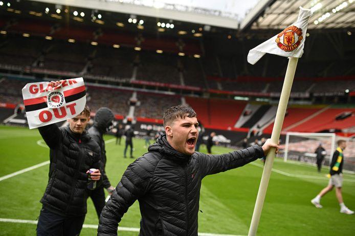 Protesten tegen de eigenaren van Manchester United.