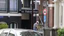 Bij Hotel Parkview sneuvelden meerdere ramen.