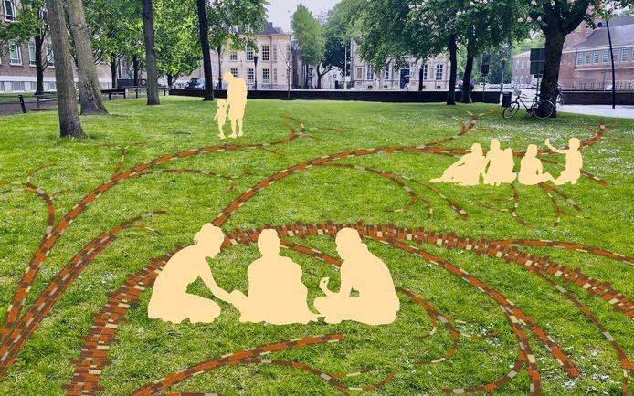 Het ontwerp 'Vrijheidsboom' van Jennifer Tee, voor een Artikel 1-monument in Breda.